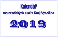 Kalendář motoristických akcí v Kraji Vysočina pro rok 2019