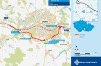 Ředitelství silnic a dálnic zveřejnilo finální podobu obchvatu Třebíče včetně vizualizace.