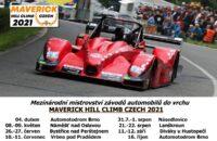 Mezinárodní mistrovství závodů automobilů do vrchu Maverick Hill Climb Czech zveřejnil podobu kalendáře pro sezónu 2021.
